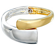 RLM Bronze Two Toned Hinged Cuff Bracelet - J331145