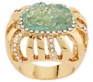 As Is Kara Ross Goldtone Simulated Drusy & Crystal Ring - J331345