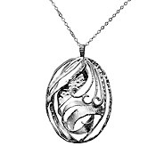 Or Paz Sterling Openwork Pendant w/ Chain - J336445