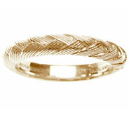 Judith Ripka Sterling & 14K Clad Braided BergeBand Ring - J336845