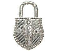 Judith Ripka Sterling & Diamonique Accented Lock Enhancer - J337145