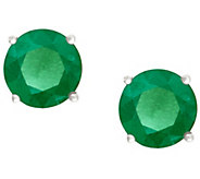 Premier 3/4 cttw Round Emerald Stud Earrings, 14K - J338145