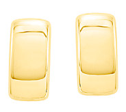 Domed Rectangle Post Earrings, 14K Gold - J338445