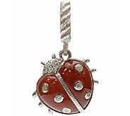 Judith Ripka Dyed Carnelian & Diamonique Ladybu g Charm - J340545