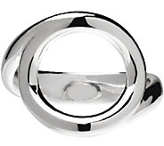 UltraFine Silver Polished Open Circle Ring - J340945
