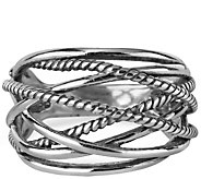 Carolyn Pollack Sterling Signature Rope Ring - J341845