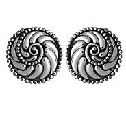 Sterling Silver Beaded Scroll Design Earrings by Or Paz - J342745