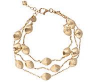Arte dOro 8 Satin Bead Multi-strand Bracelet,18K 12.0g - J343145