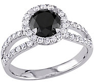 Round Black Diamond Ring, 14K, 1.50 cttw, by Affinity - J344145