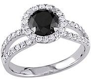 Round Black Diamond Ring, 14K, 1.50 cttw, by Affinity - J344145