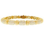 Judith Ripka 14K Gold-Clad Sterling Silver Diamonique Bracelet - J344245