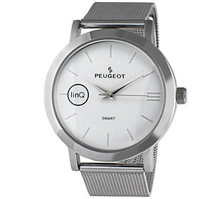 Peugeot Linq Smart Watch With Mesh Band White