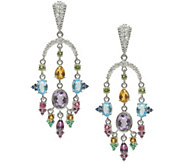 Judith Ripka Sterling Multi Gemstone & Diamonique Earrings - J345145