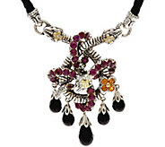 Barbara Bixby Sterling & 18K Gemstone & Leather Snake Necklace - J346845