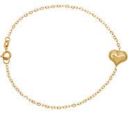 Italian Gold Heart Line Bracelet 14K Gold - J347345