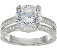 Judith Ripka Sterling Silver 6.00 cttw. Diamonique Solitaire Ring - J348145