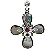 Carolyn Pollack Sterling Silver Gemstone Doublet Cross Enhancer - J349445