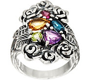 Sterling Silver 1.30 cts Multi-gemstone Bouquet Ring by Or Paz - J349545