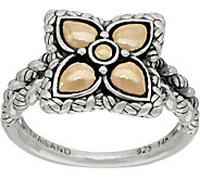 JAI Sterling & 14K Gold Lotus Petal Flower Ring - J350145