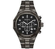 Bulova Mens Diamond Chronograph Gray Watch - J375145
