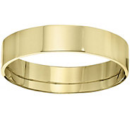 Mens 14K Yellow Gold 5mm Flat Comfort Fit Wedding Band - J375245