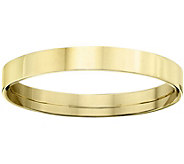 Mens 18K Yellow Gold 3mm Flat Comfort Fit Wedding Band - J375345