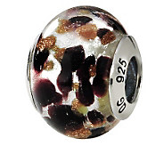 Prerogatives Sterling Brown/Black Italian Murano Glass Bead - J111746