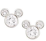Disney Sterling Silver Diamonique Mickey Stud Earrings - J112546