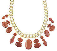 Fancy Drop Chain Necklace - J261746