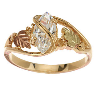 Product image of Black Hills 1.00 ct Marquise Diamonique Ring 10K/12K