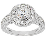 Judith Ripka Sterling 118 Facet Diamonique Estate Ring - J289046