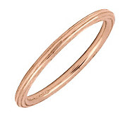 Simply Stacks 18K Rose Gold-Plated Sterling Ring with Edging - J298846
