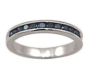 Blue Diamond Band Ring, Sterling, 1/2cttw, by Affinity - J307646