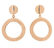 Bronzo Italia Polished Open Ring Dangle Earrings - J311746
