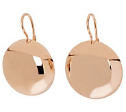 Bronzo Italia Polished Round Disc Lever Back Earrings - J311946
