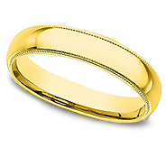 Sterling 3MM Unisex Milgrain Silk Fit Band R ing, 14K Clad - J312246