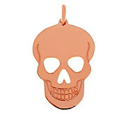 Bronze Polished Skull Pendant by Bronzo Italia - J312446