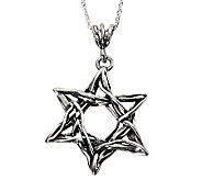 Or Paz Sterling Star of David Pendant with Chain - J313046