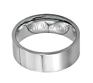Stainless Steel 8mm Flat Polished Engravable Ring - J314246