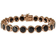Bronze 8 Faceted Crystal Tennis Bracelet by Bronzo Italia - J314746