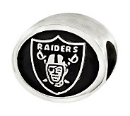 Sterling Oakland Raiders NFL Bead - J315146