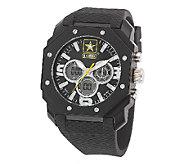 Wrist Armor Mens U.S. Army C28 Black & White Watch - J316346