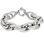 Vicenza Silver Sterling 6-3/4 Polished Triple Rolo Link Bracelet, 49.2g - J317646