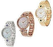Ecclissi Facets Stainless Steel Gemstone & Zircon Watch - J318146