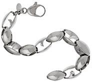 Stainless Steel Bold Polished Link Bracelet - J319646