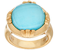 14K Gold Sleeping Beauty Turquoise Doublet Ring - J320846