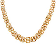 14K Gold 20 Textured & Polished Byzantine Necklace, 36.5g - J324646
