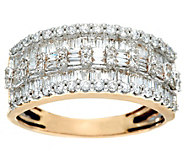 Baguette & Round Diamond Band Ring, 14K, 1.00 cttw, by Affinity - J330246