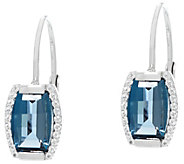 Jane Taylor Barrel Cut Gemstone Sterling Silver Earrings - J330946