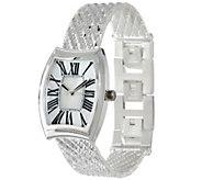 As Is UltraFine Silver Adjustable Riccio Watch - J331946